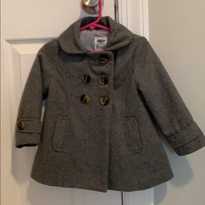 Old Navy toddler girls gray pea coat 2T